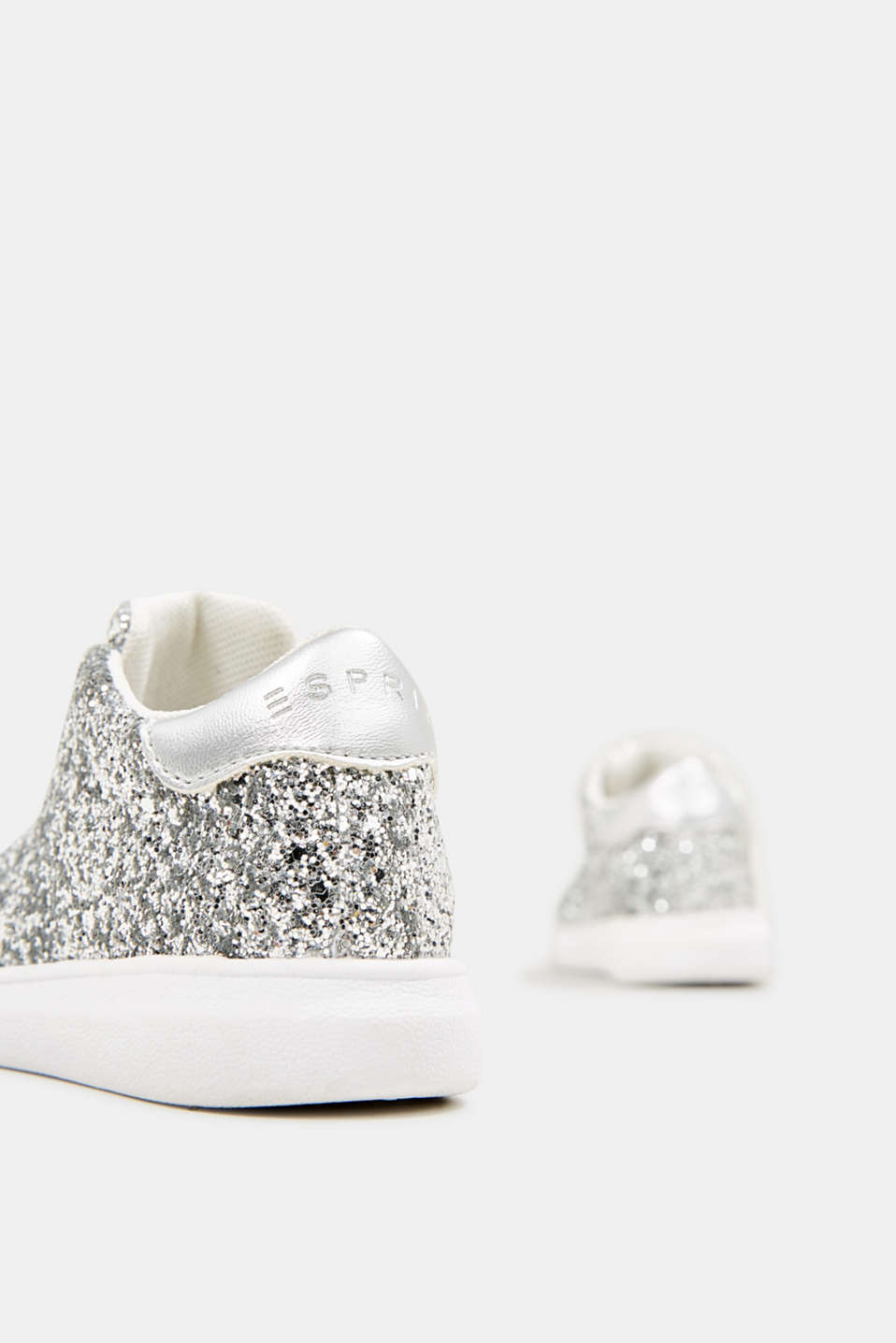 Glitter trainers, SILVER, detail image number 3