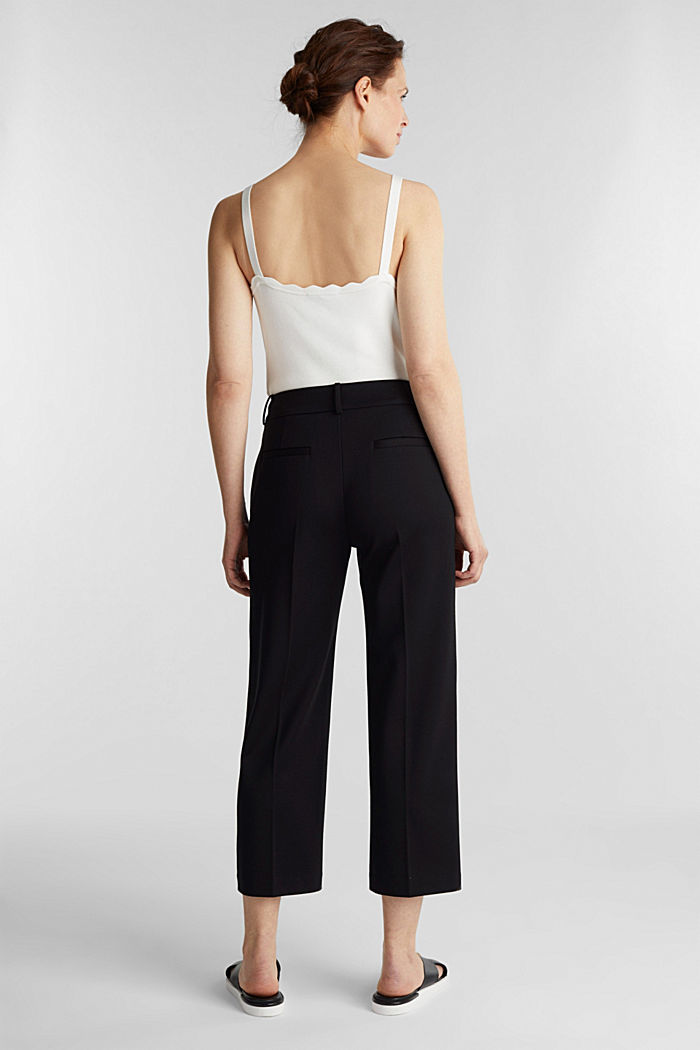 Stretch jersey culottes, BLACK, detail image number 3