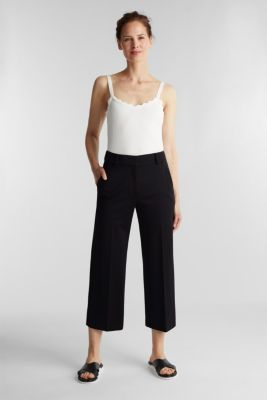 Stretch jersey culottes, BLACK, detail