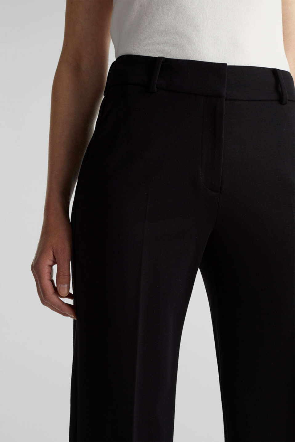 Stretch jersey culottes, BLACK, detail image number 2