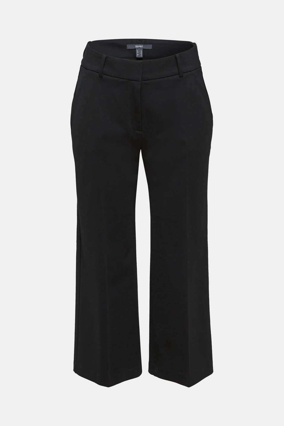 Stretch jersey culottes, BLACK, detail image number 5