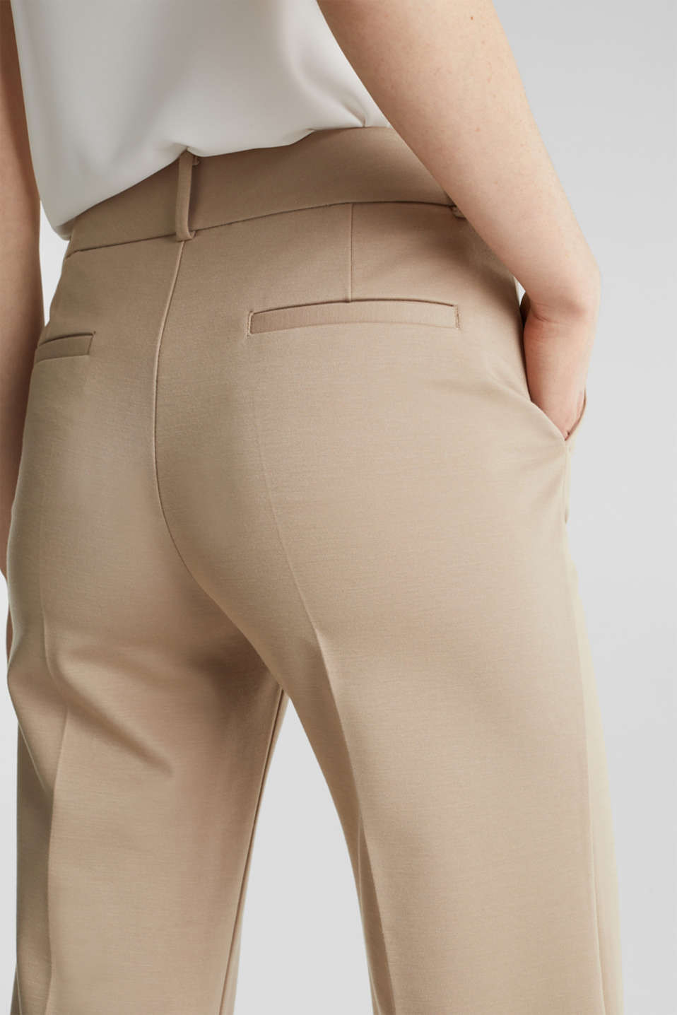 Stretch jersey culottes, BEIGE, detail image number 2