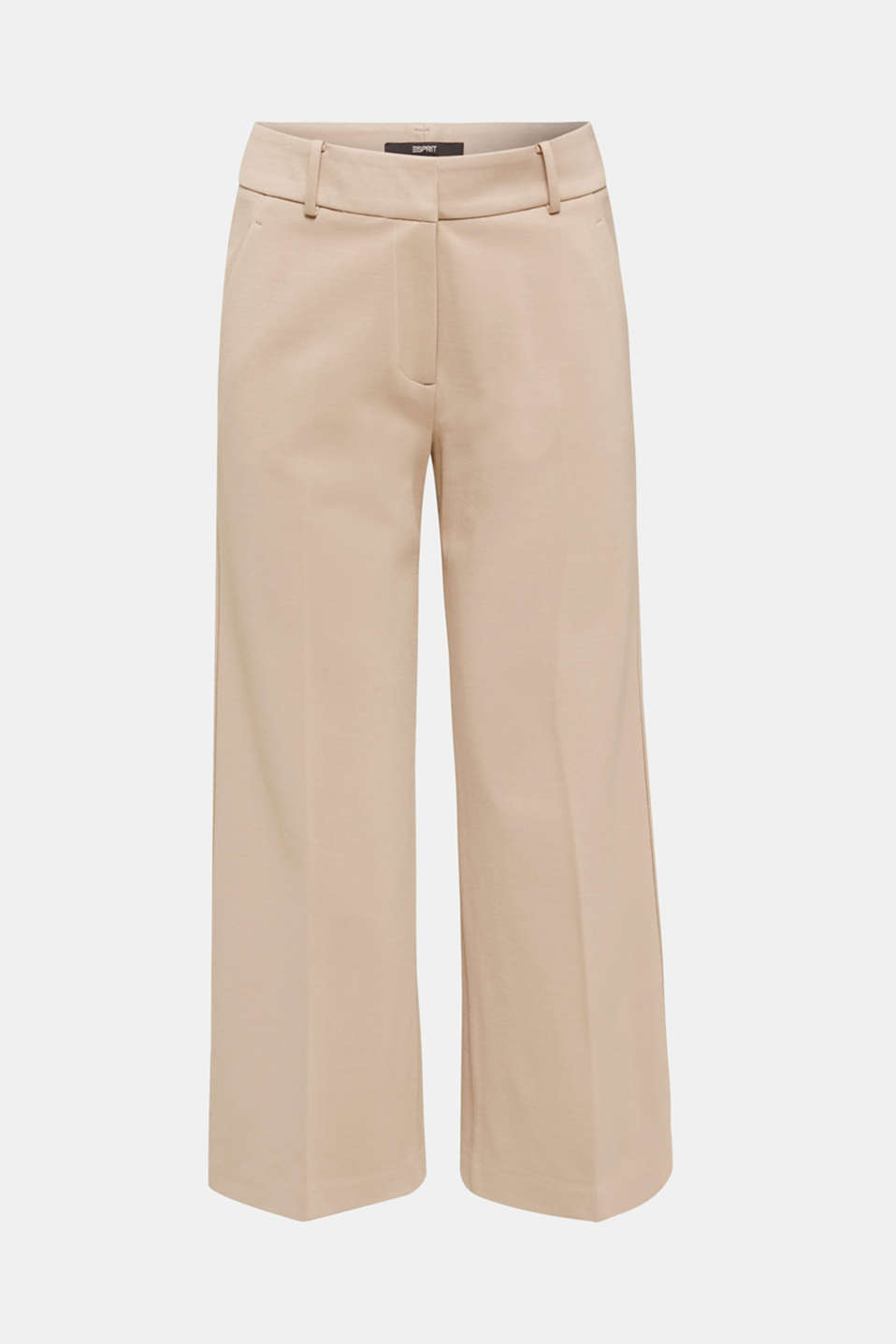 Stretch jersey culottes, BEIGE, detail image number 5