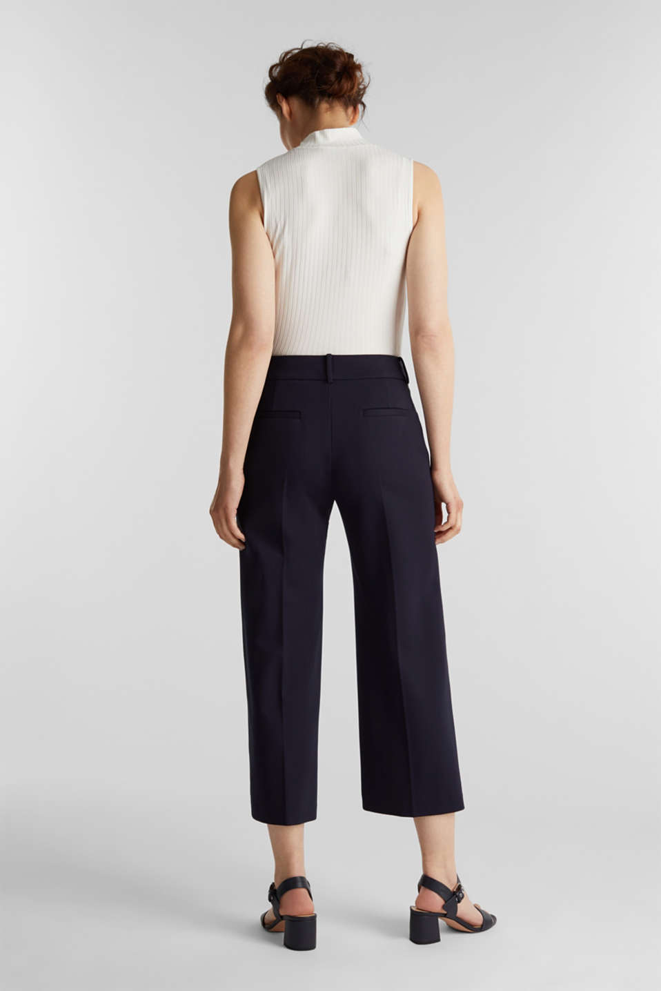 Stretch jersey culottes, NAVY, detail image number 3