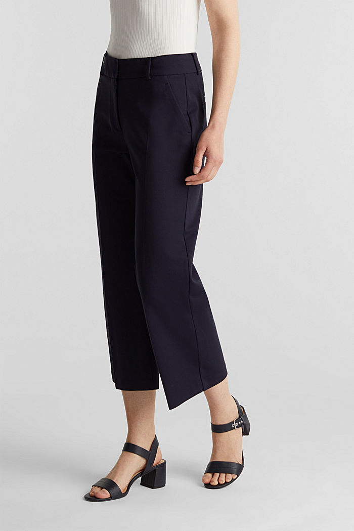 Culotte aus Jersey-Stretch, NAVY, detail image number 6