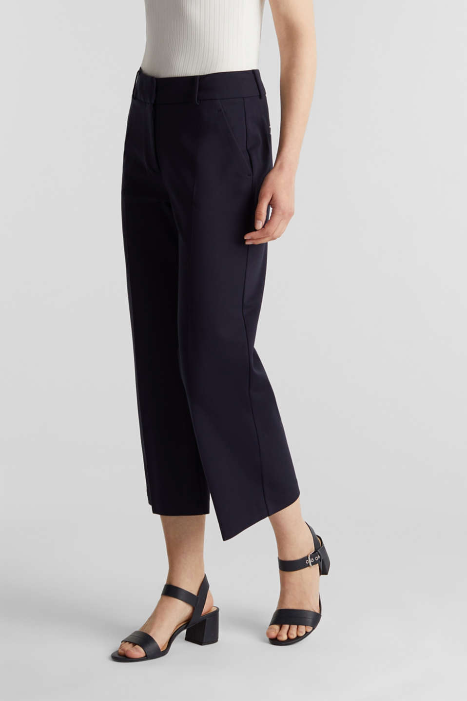 Stretch jersey culottes, NAVY, detail image number 6