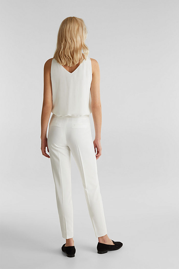 WEDDING mix + match crêpe trousers, WHITE, detail image number 3