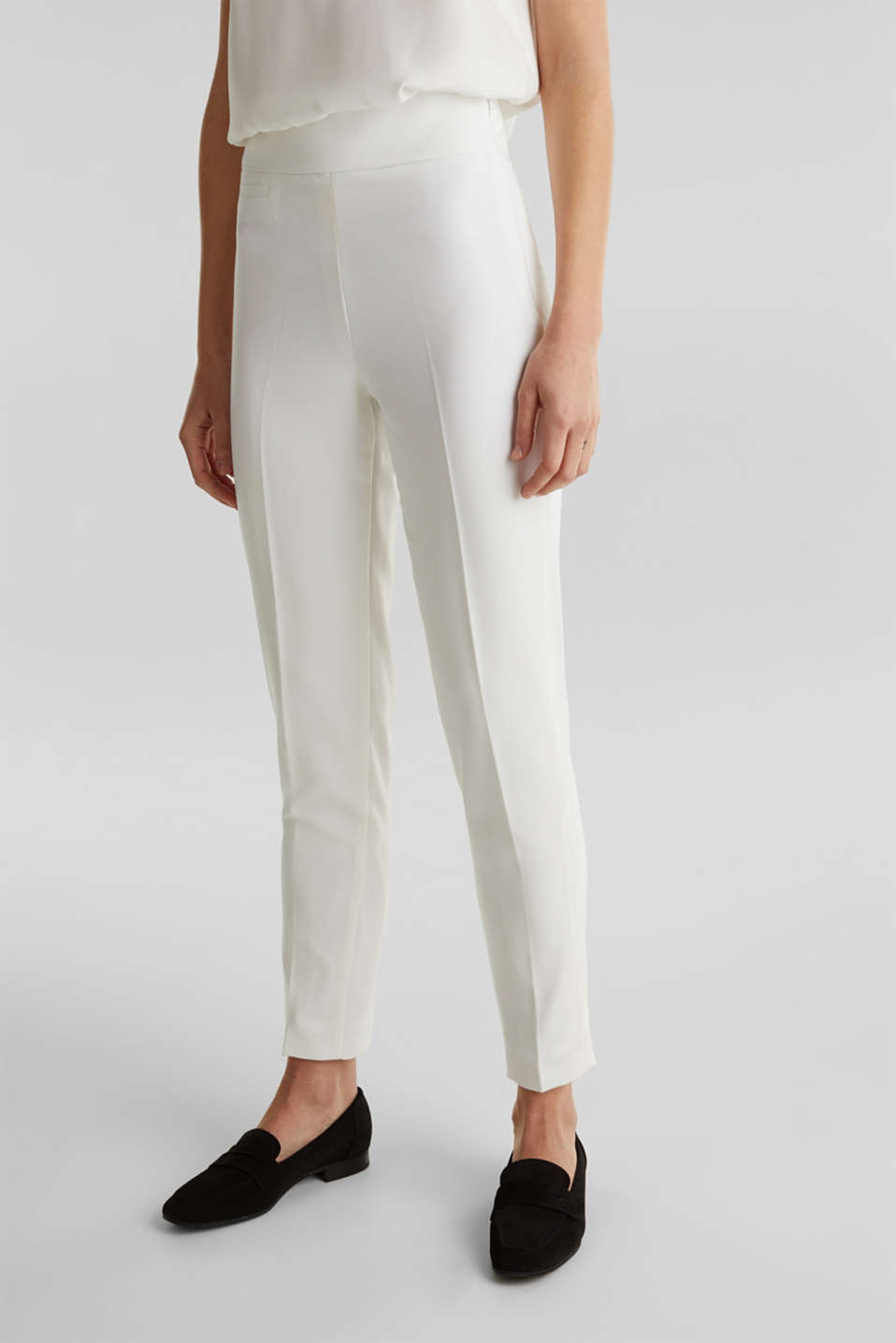 WEDDING mix + match crêpe trousers, WHITE, detail image number 6
