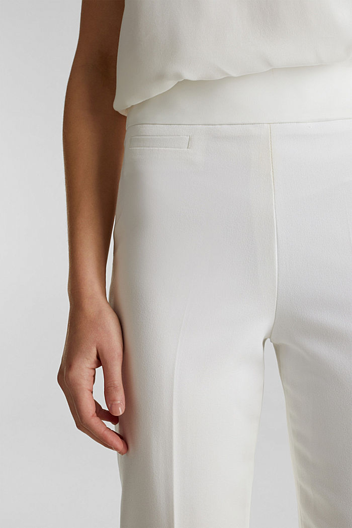 WEDDING Mix + Match Crèpe-Hose, WHITE, detail image number 2