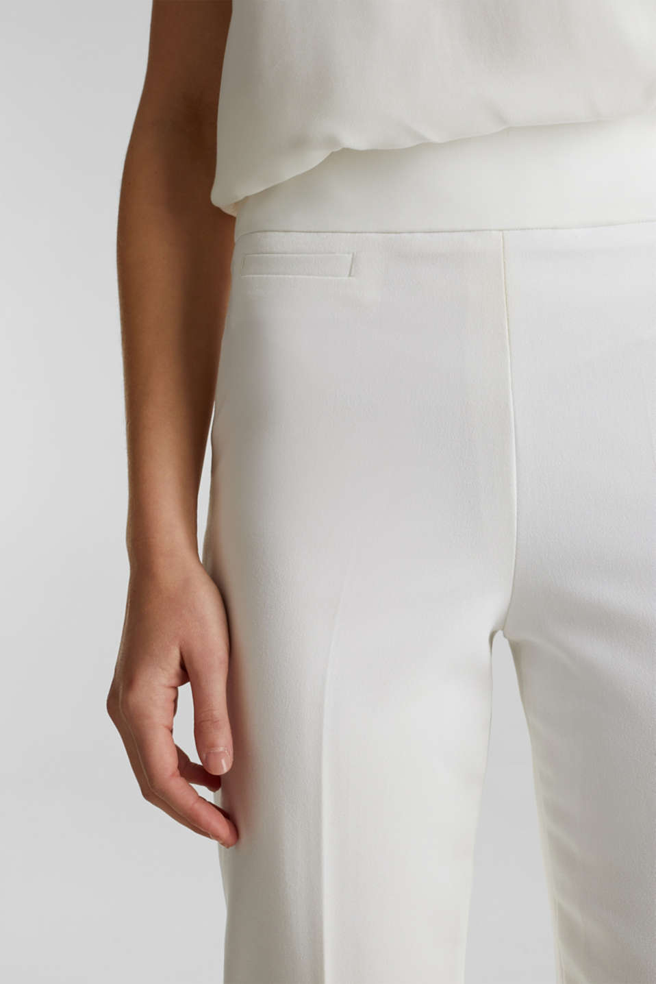 WEDDING mix + match crêpe trousers, WHITE, detail image number 2