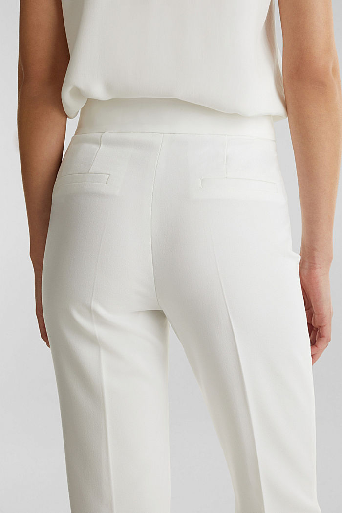 WEDDING mix + match crêpe trousers, WHITE, detail image number 5