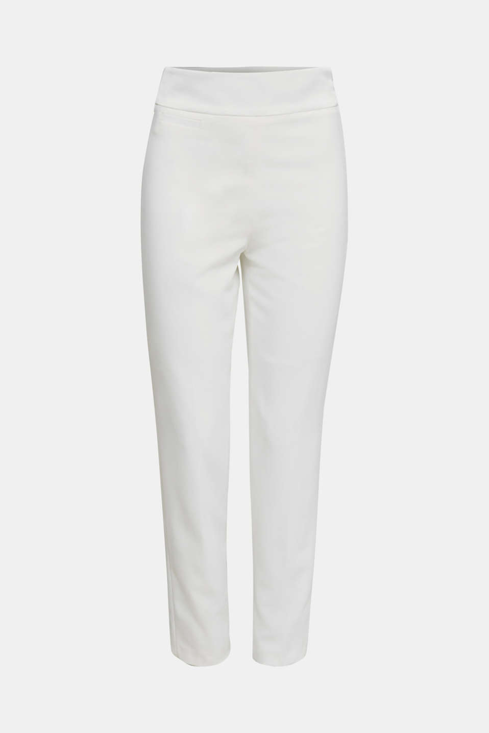 WEDDING mix + match crêpe trousers, WHITE, detail image number 8