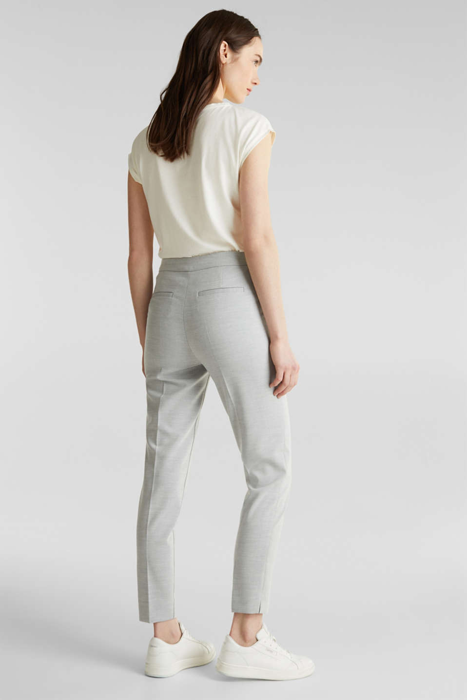 JERSEY mix + match trousers, LIGHT GREY 5, detail image number 3