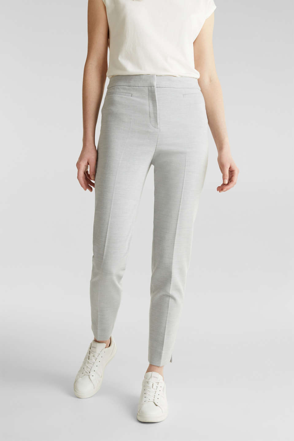 JERSEY mix + match trousers, LIGHT GREY 5, detail image number 5
