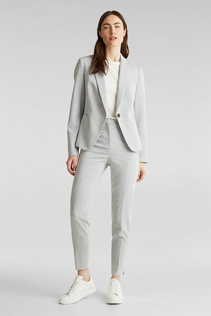 JERSEY mix + match trousers, LIGHT GREY, detail image number 1