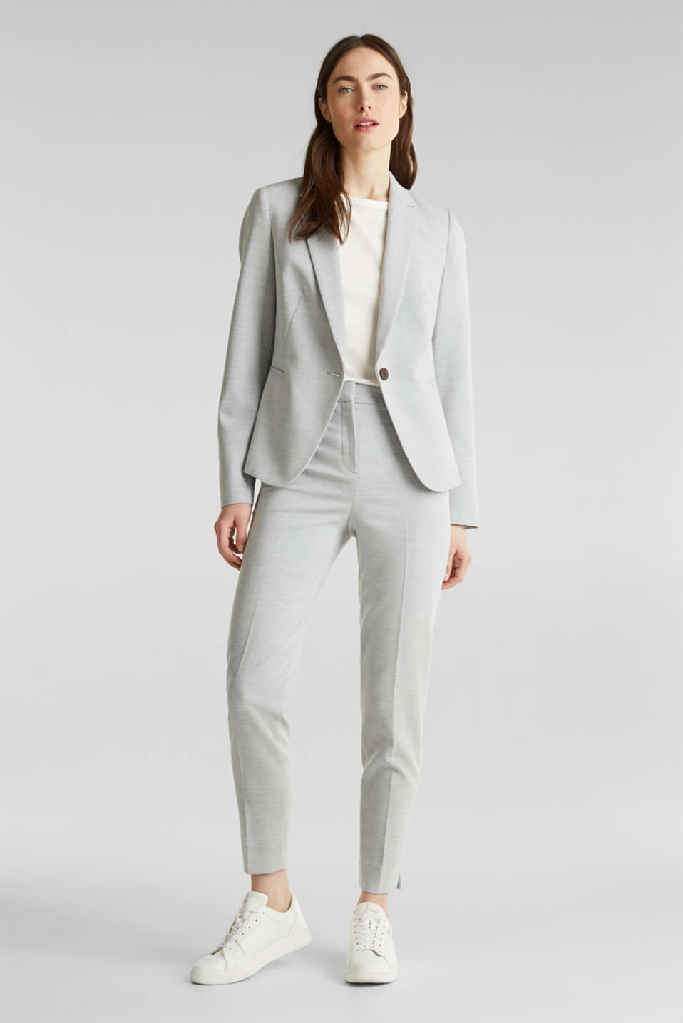 JERSEY mix + match trousers, LIGHT GREY 5, detail image number 1