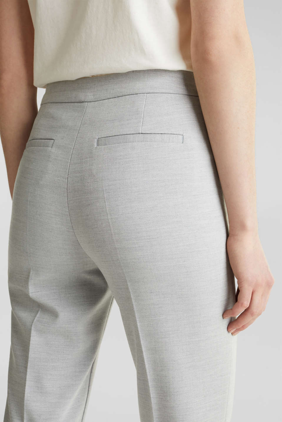 JERSEY mix + match trousers, LIGHT GREY 5, detail image number 2