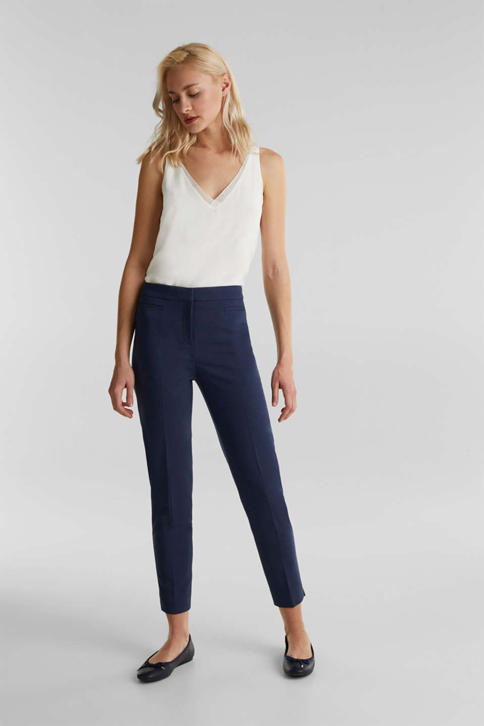 Esprit - JERSEY mix + match trousers