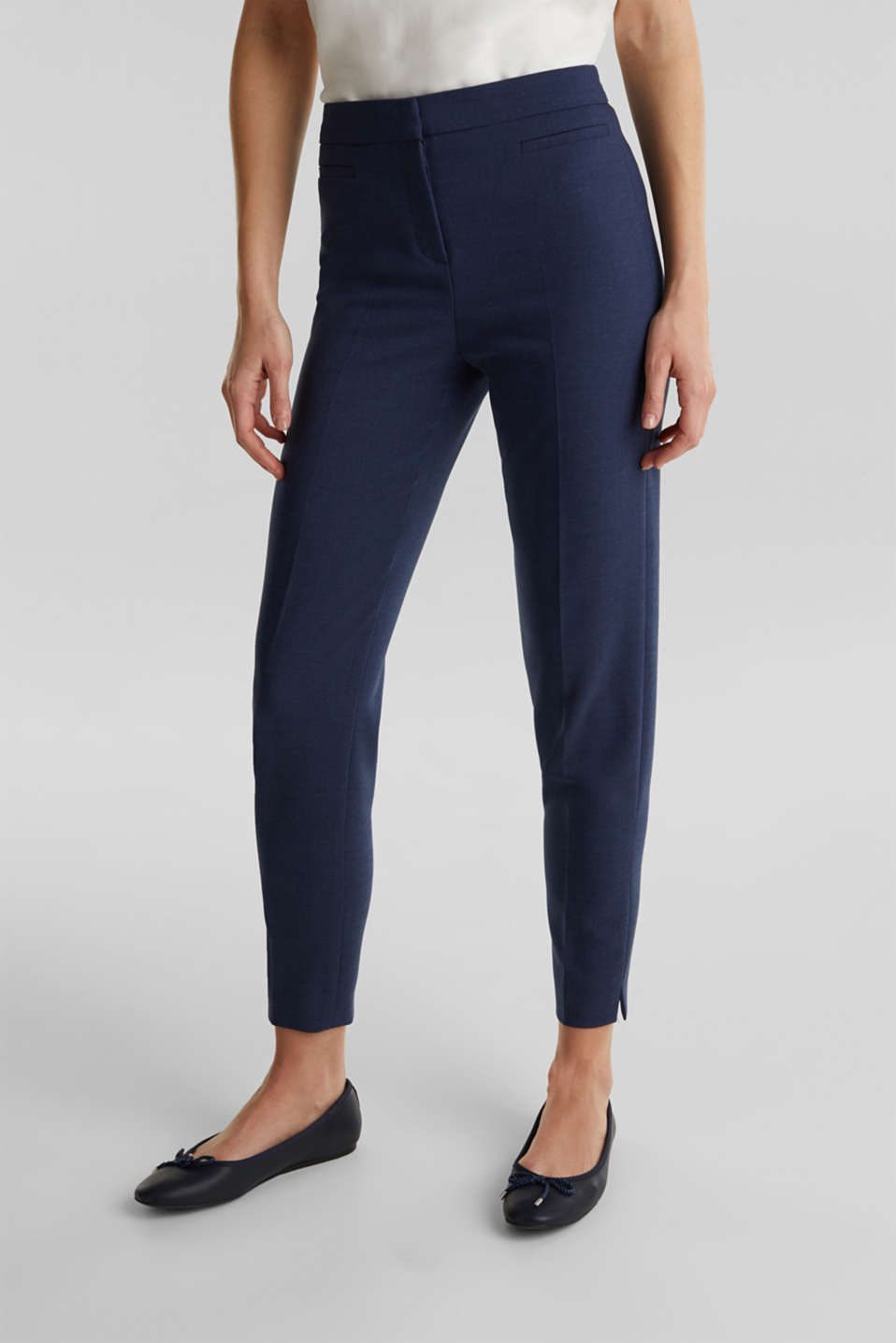 JERSEY mix + match trousers, GREY BLUE 5, detail image number 6