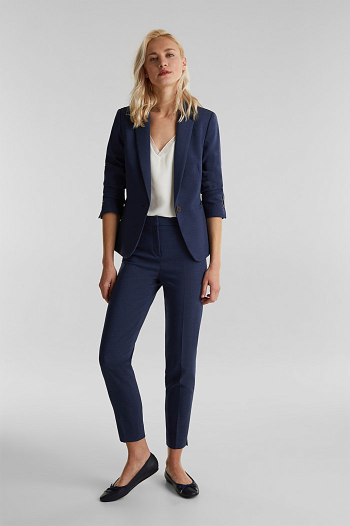 JERSEY mix + match trousers, GREY BLUE, detail image number 1