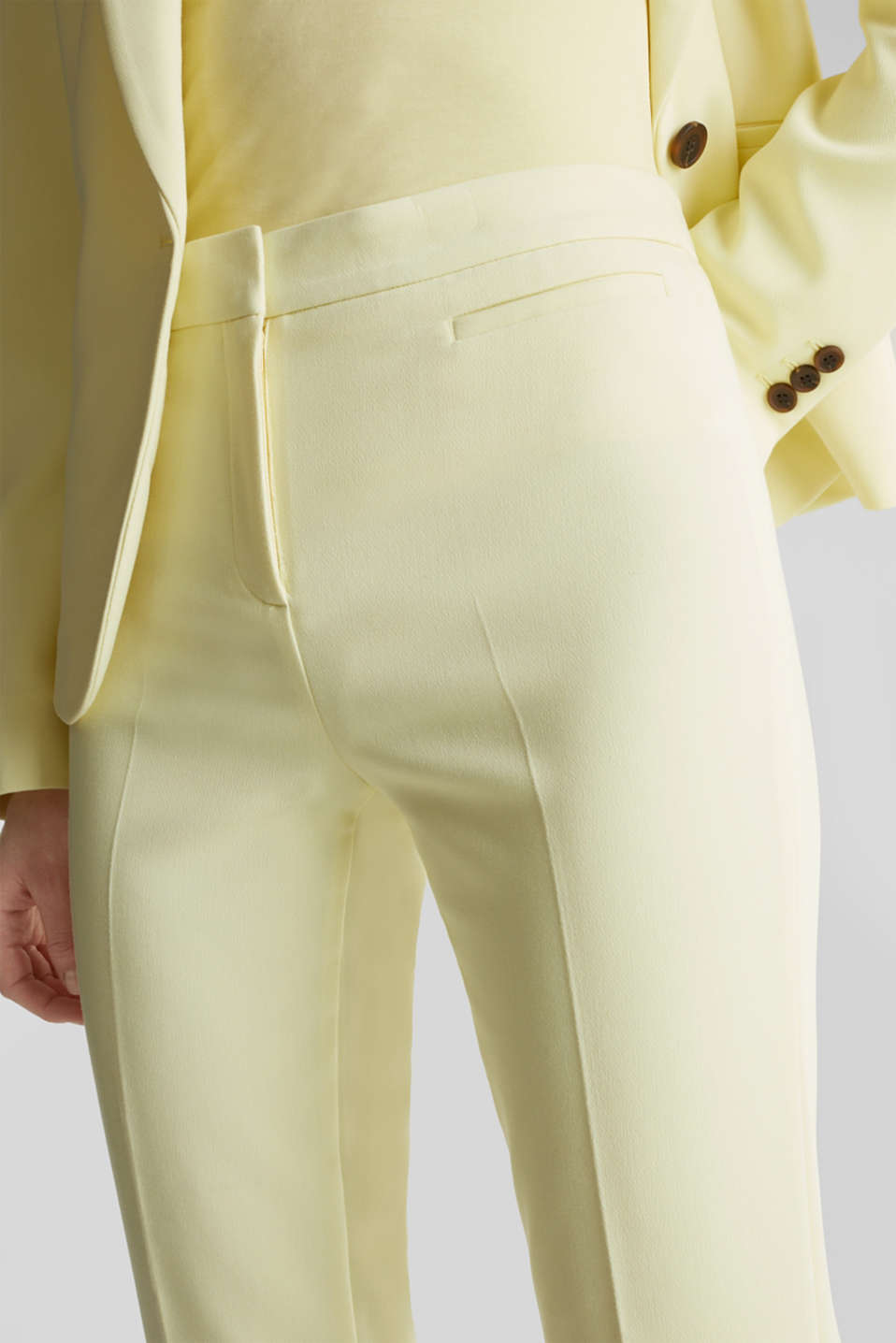 JERSEY mix + match trousers, LIME YELLOW, detail image number 2