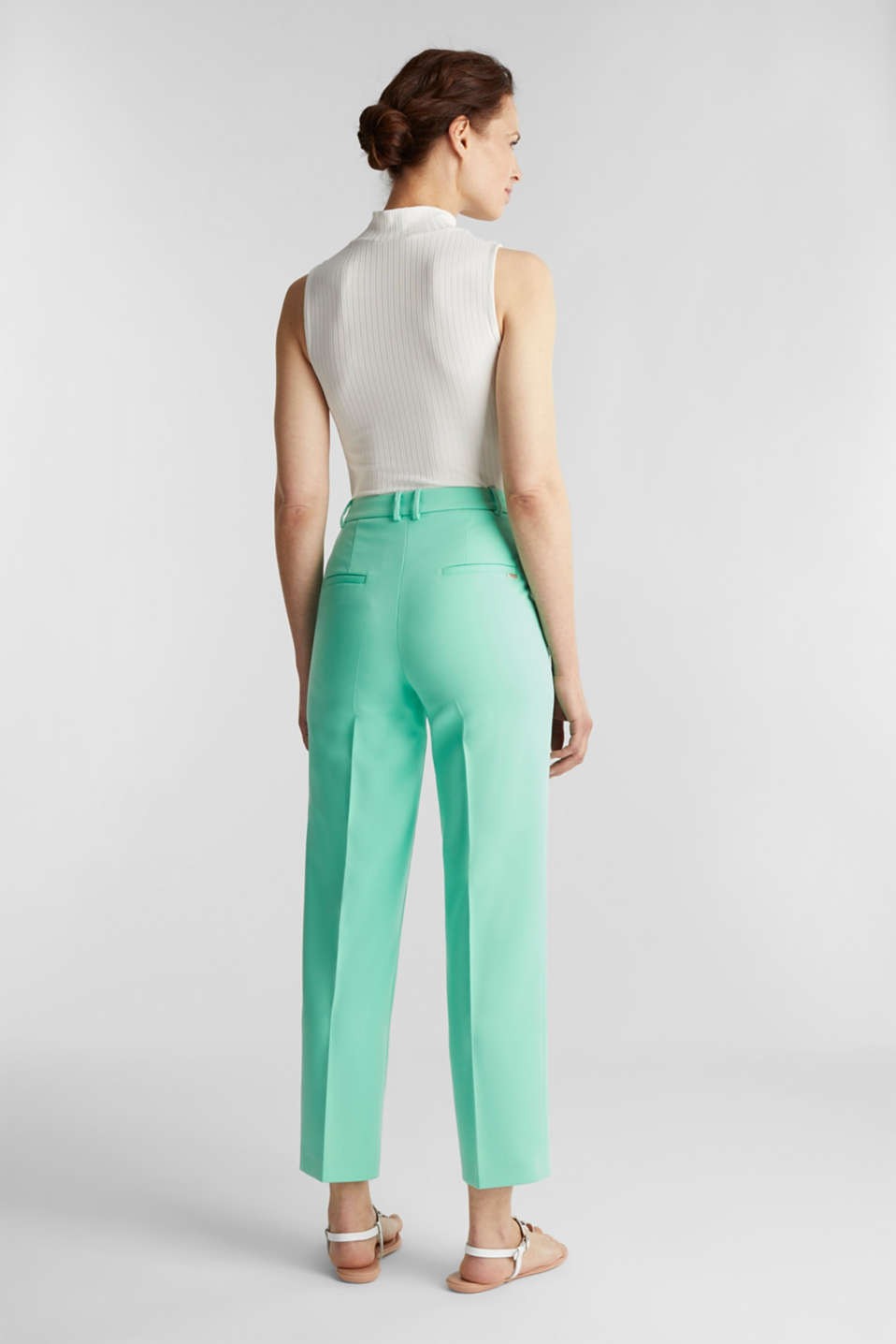 SHIMMER mix + match stretch trousers, LIGHT GREEN, detail image number 3