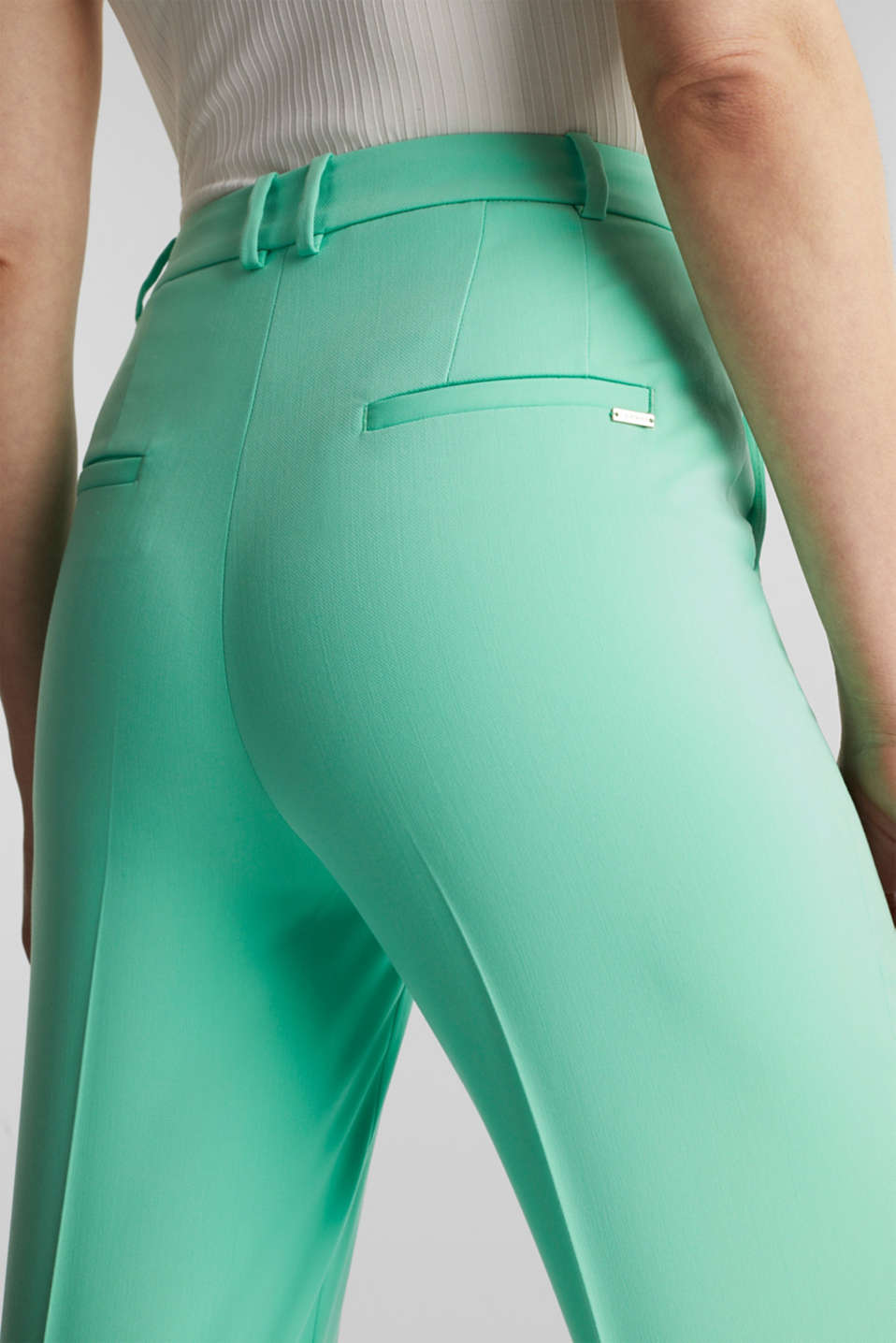 SHIMMER mix + match stretch trousers, LIGHT GREEN, detail image number 2