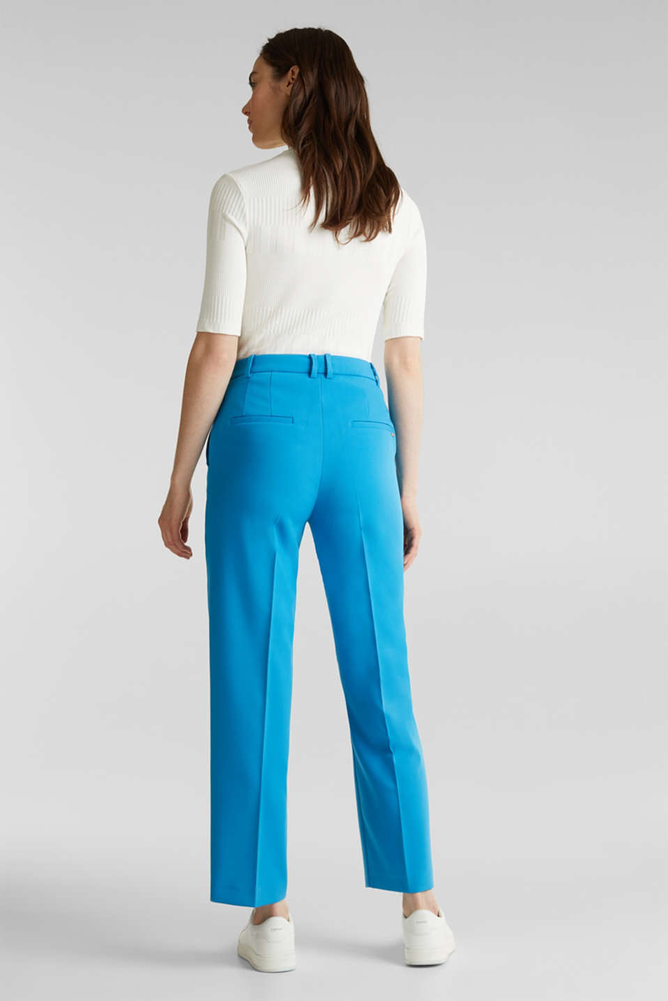 SHIMMER mix + match stretch trousers, DARK TURQUOISE, detail image number 3