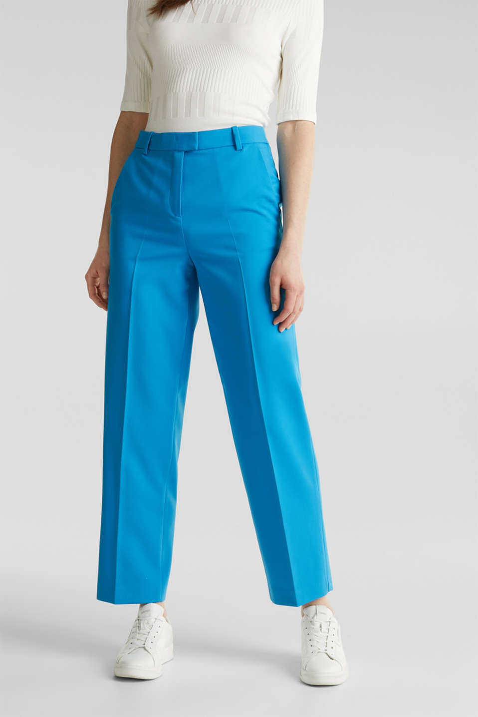 SHIMMER mix + match stretch trousers, DARK TURQUOISE, detail image number 5