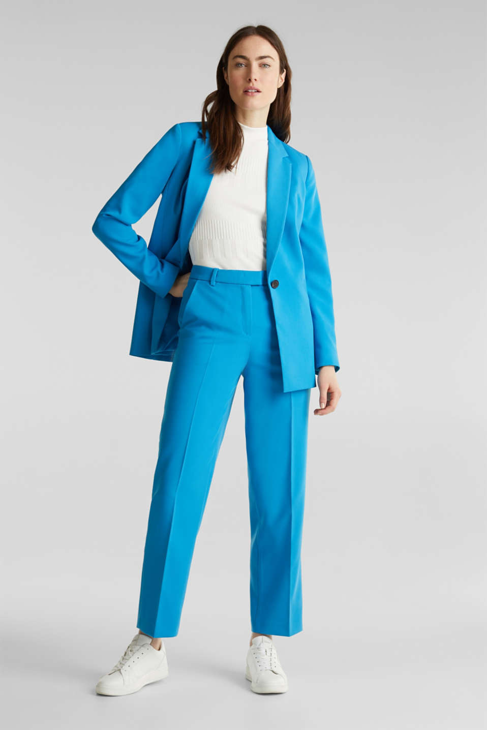 SHIMMER mix + match stretch trousers, DARK TURQUOISE, detail image number 1