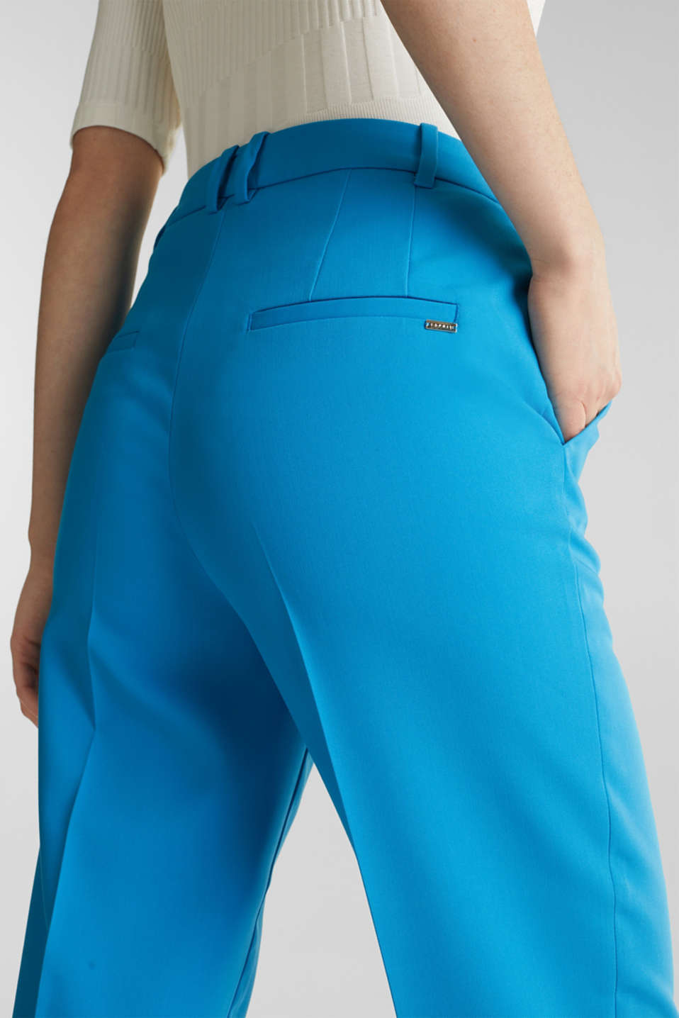 SHIMMER mix + match stretch trousers, DARK TURQUOISE, detail image number 2