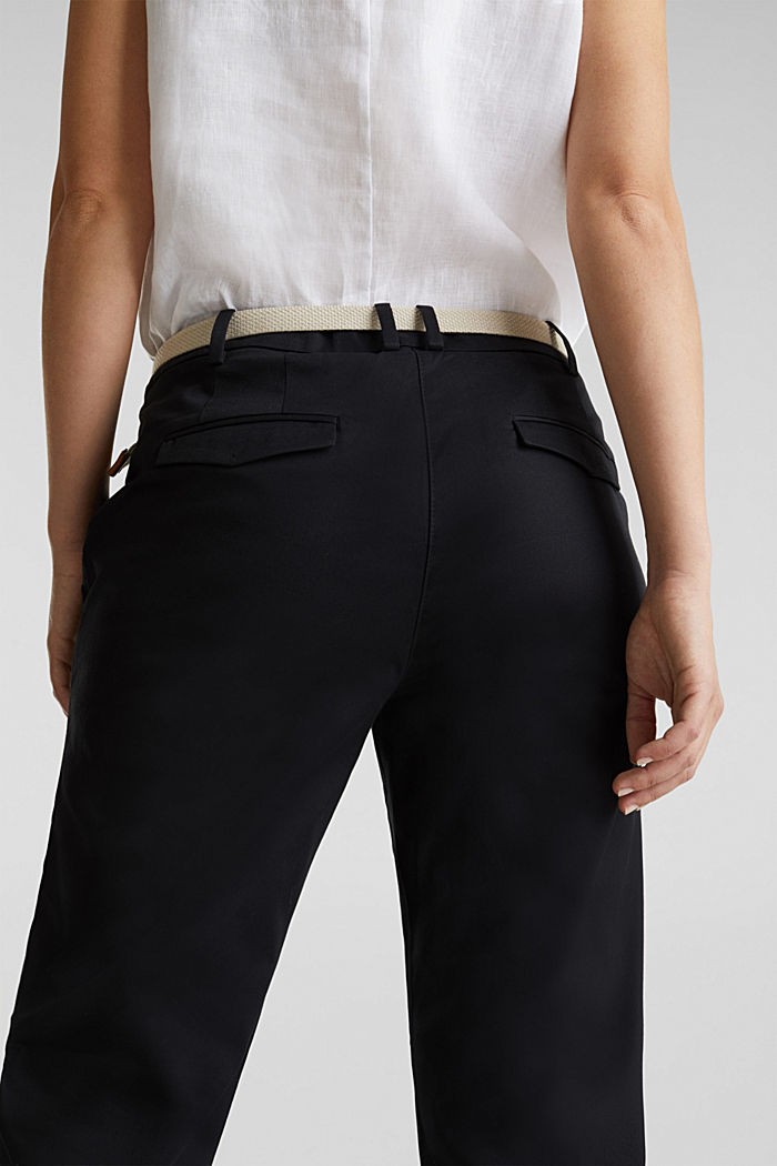 Business-Chino mit Gürtel, BLACK, detail image number 5