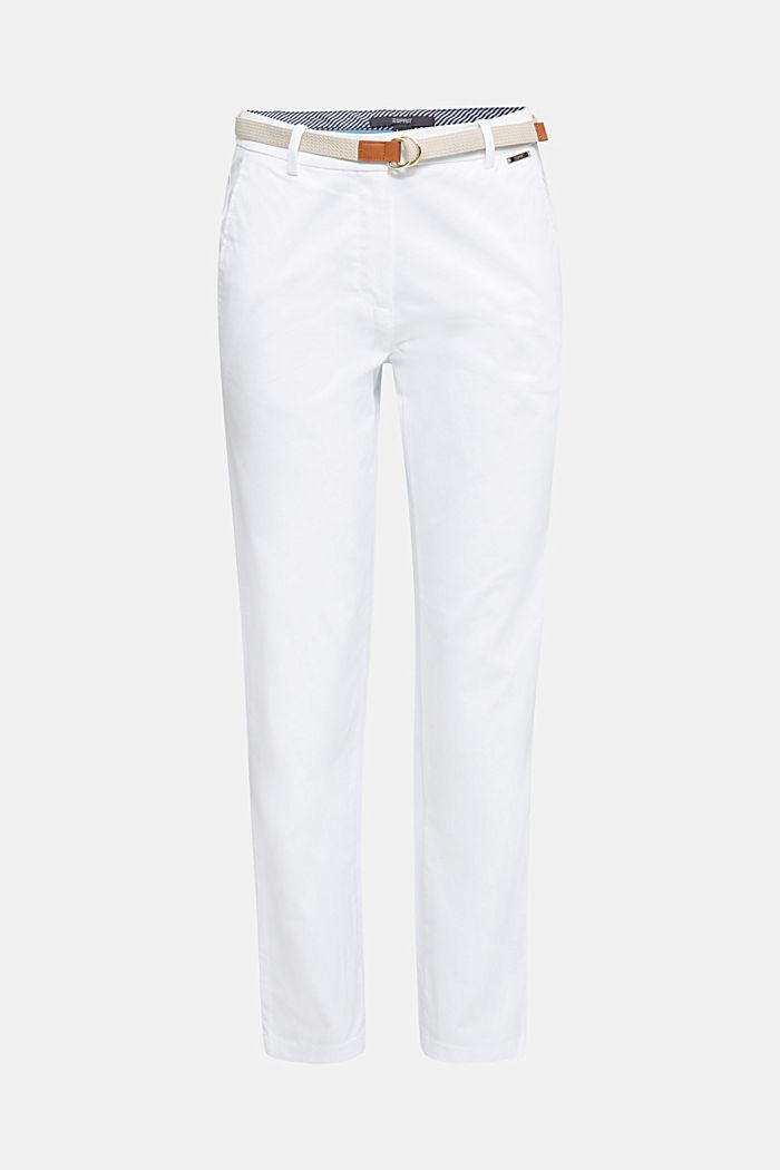 Business-Chino mit Gürtel, WHITE, detail image number 7