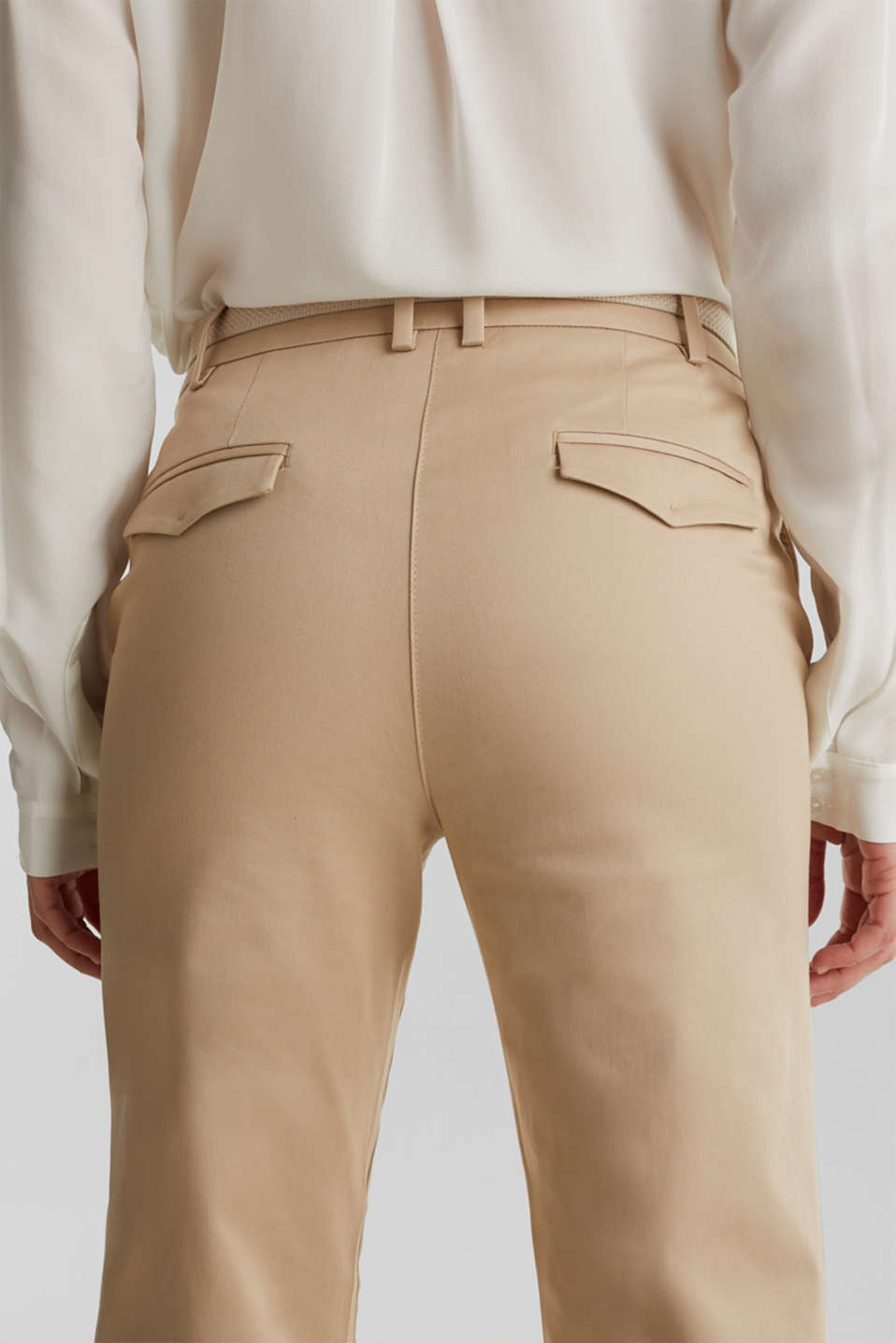 Business chinos with a belt, BEIGE, detail image number 5