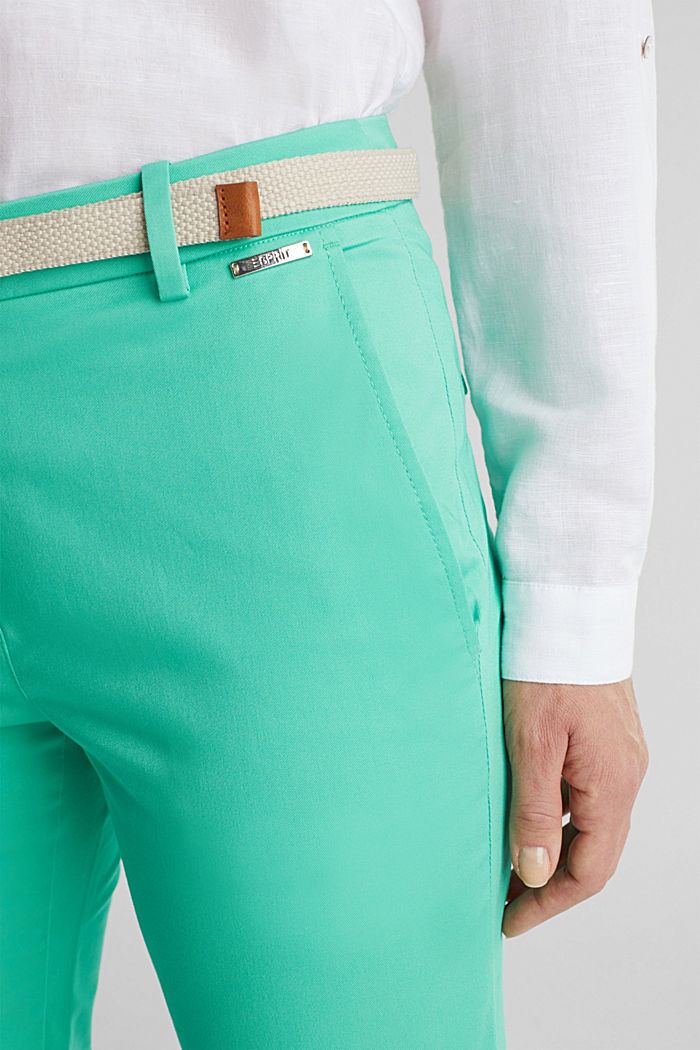 Business-Chino mit Gürtel, LIGHT GREEN, detail image number 2