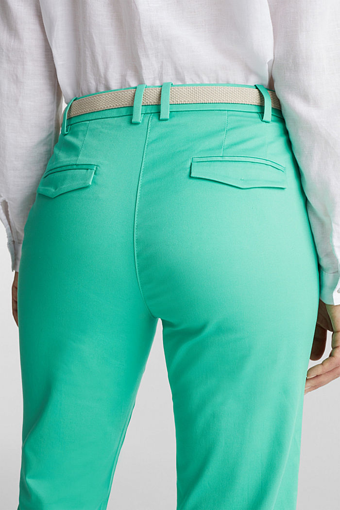 Business-Chino mit Gürtel, LIGHT GREEN, detail image number 5