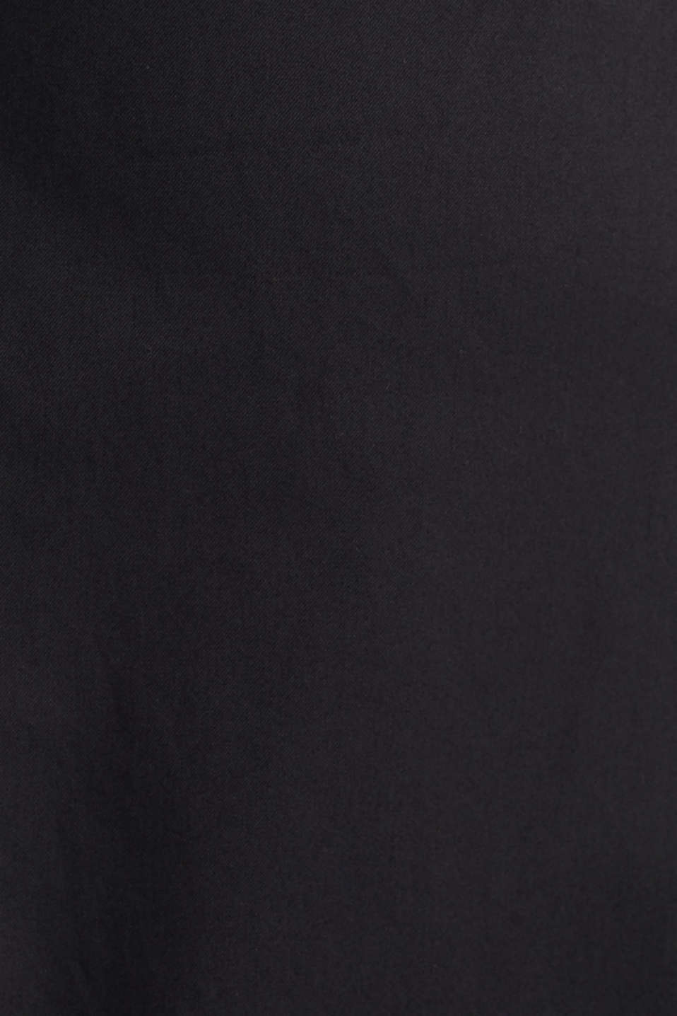 Culottes with a fine sheen, BLACK, detail image number 4