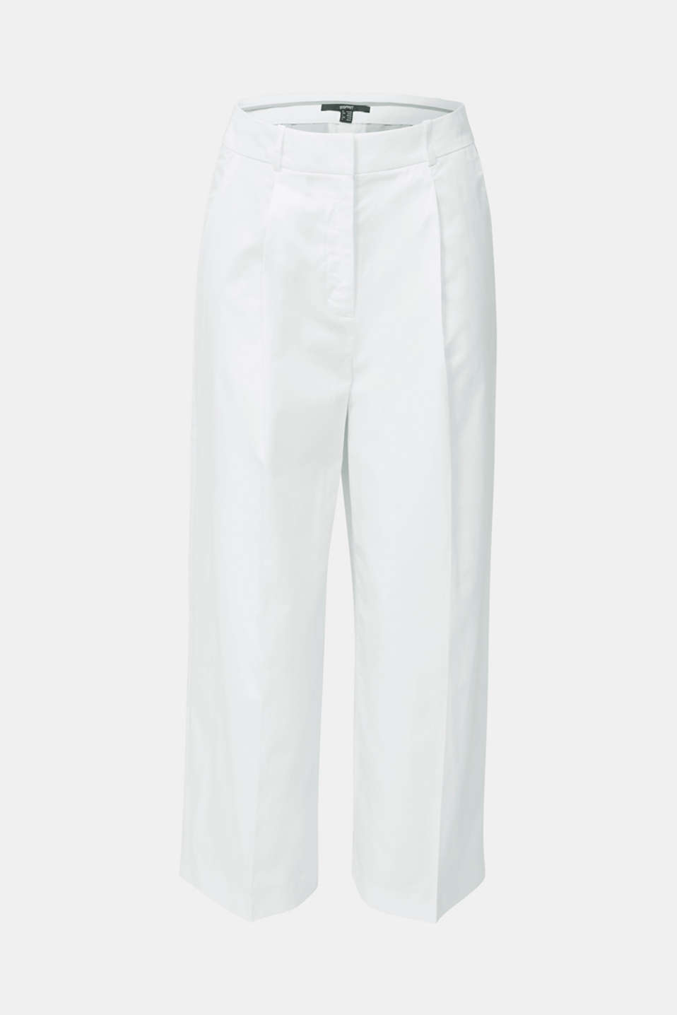 Culottes with a fine sheen, WHITE, detail image number 5