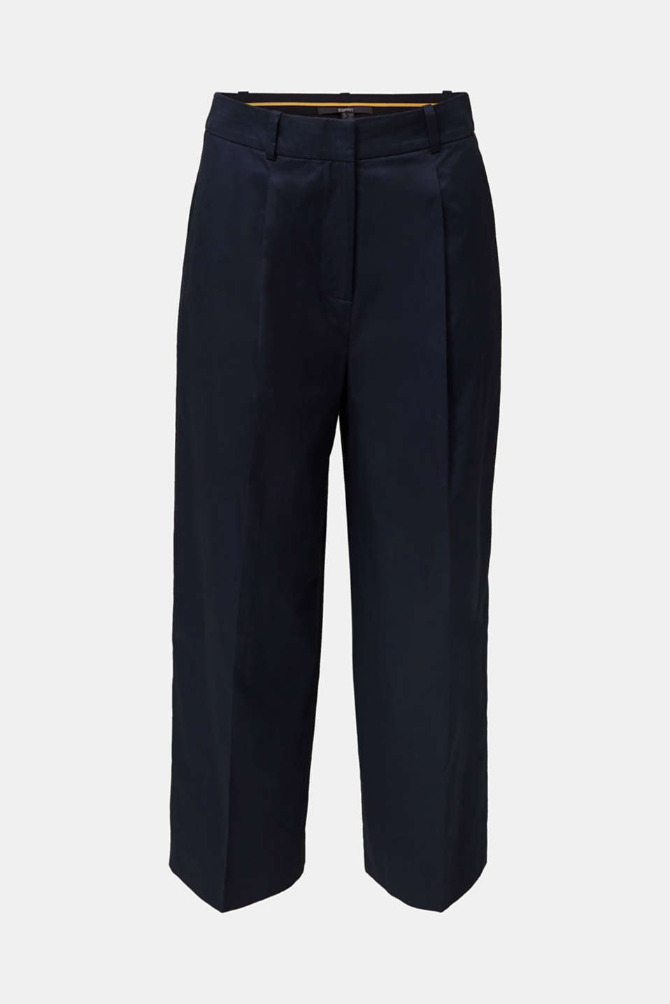 Culottes with a fine sheen, NAVY, detail image number 5