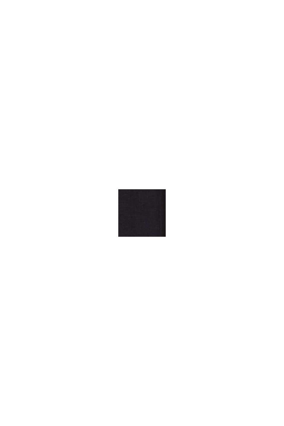 100% linnen: wijde broek met riem, BLACK, swatch