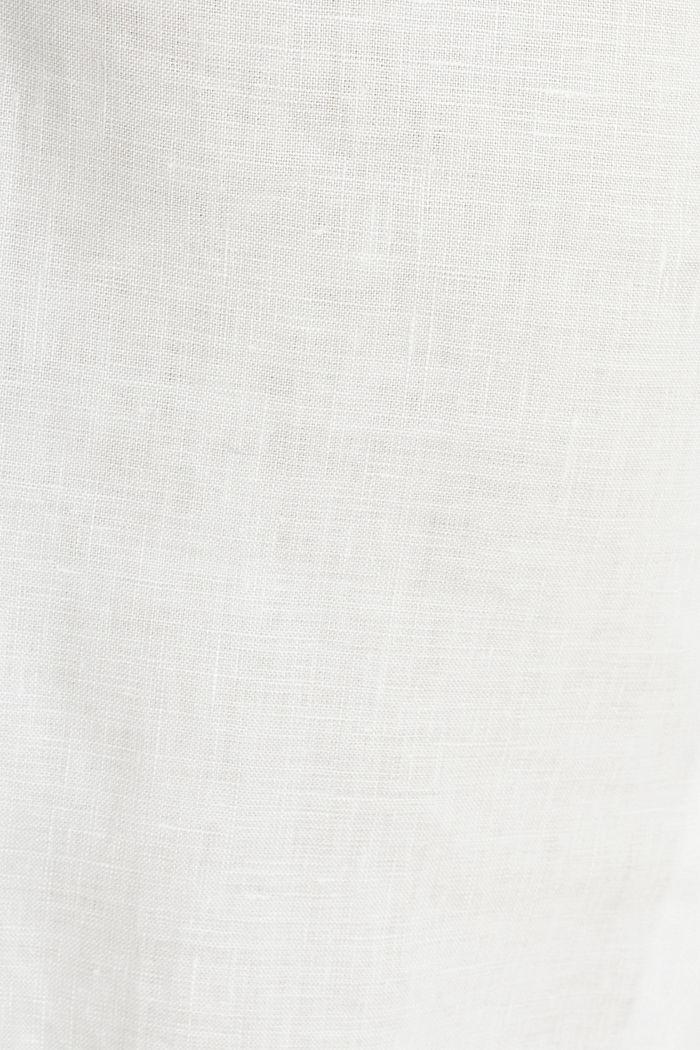 100% Leinen: weite Hose mit Gürtel, OFF WHITE, detail image number 4