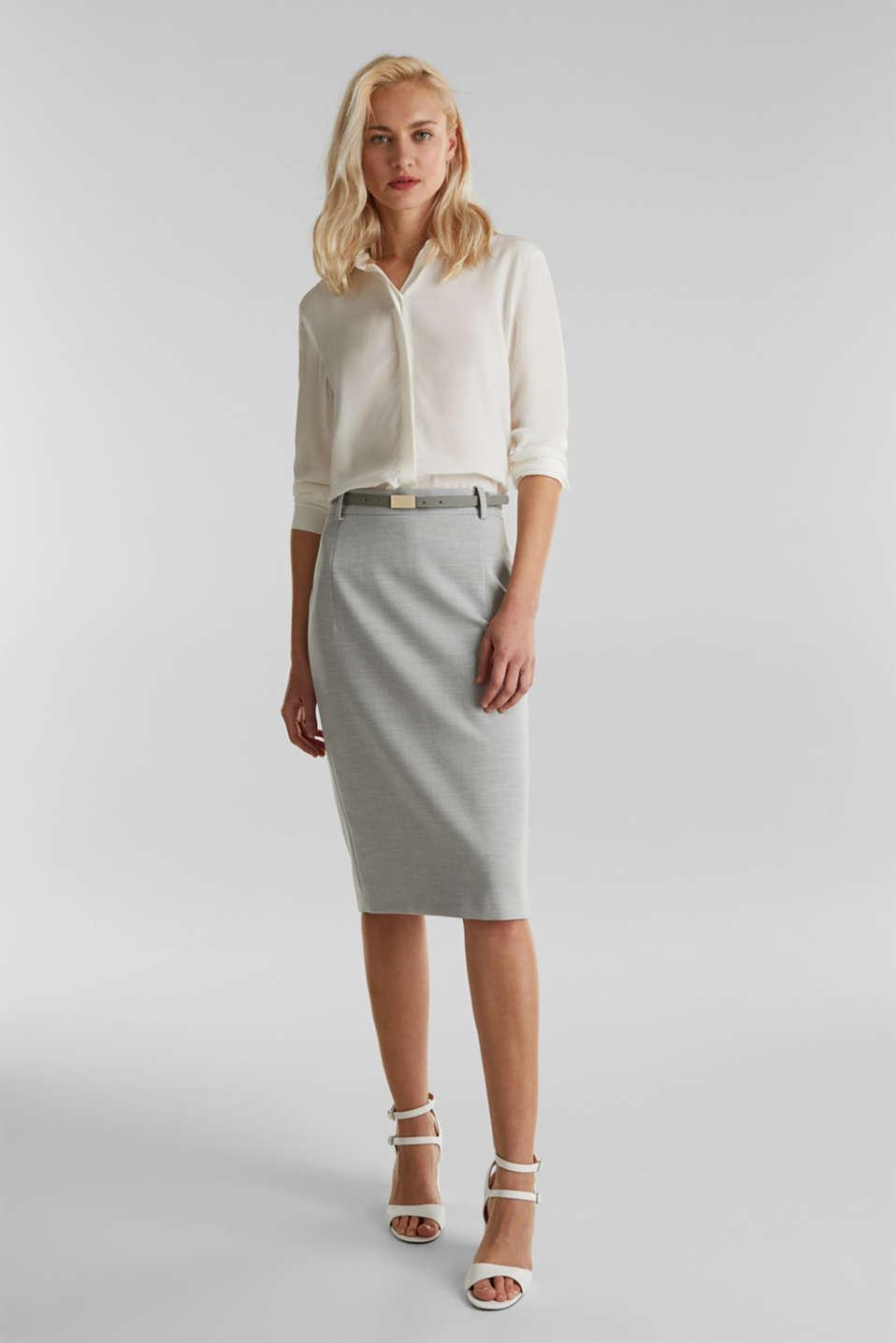 SUMMER BIZ Mix + Match stretch skirt, LIGHT GREY 5, detail image number 3