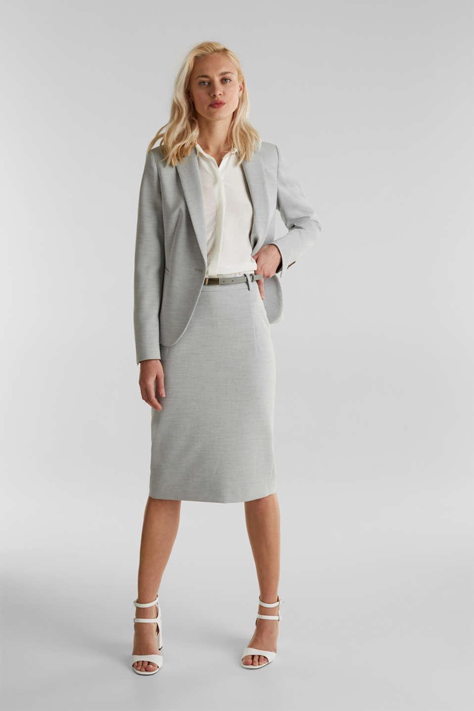 SUMMER BIZ Mix + Match stretch skirt, LIGHT GREY 5, detail image number 1