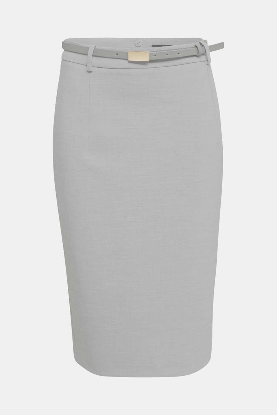 SUMMER BIZ Mix + Match stretch skirt, LIGHT GREY 5, detail image number 5