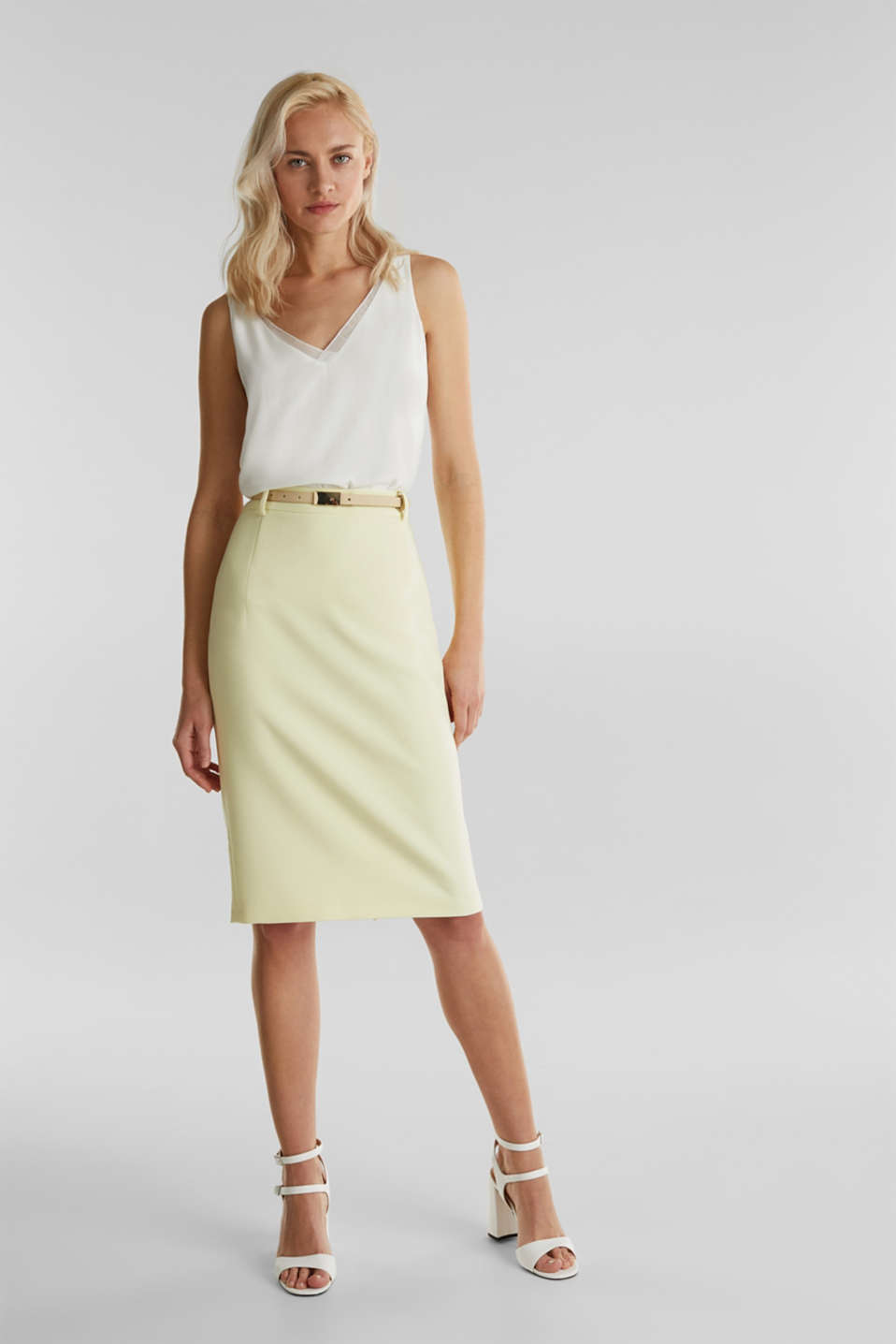 SUMMER BIZ mix + match skirt, LIME YELLOW, detail image number 6