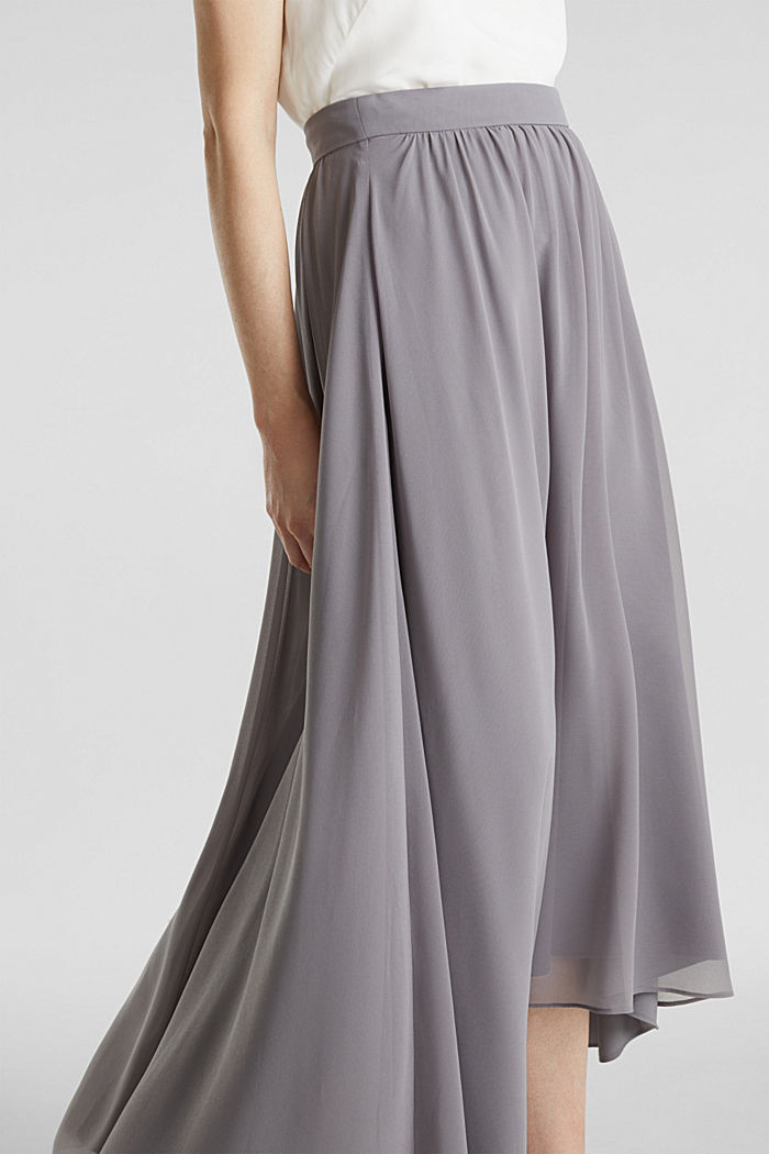 Chiffon maxi skirt, GREY, detail image number 2