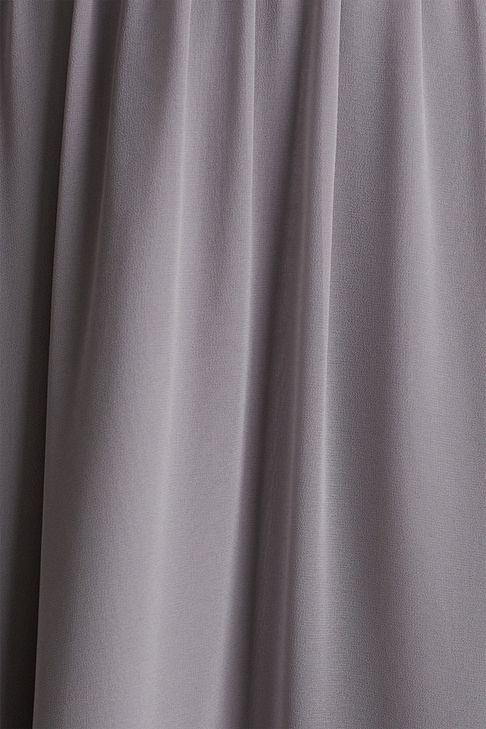 Chiffon maxi skirt, GREY, detail image number 4