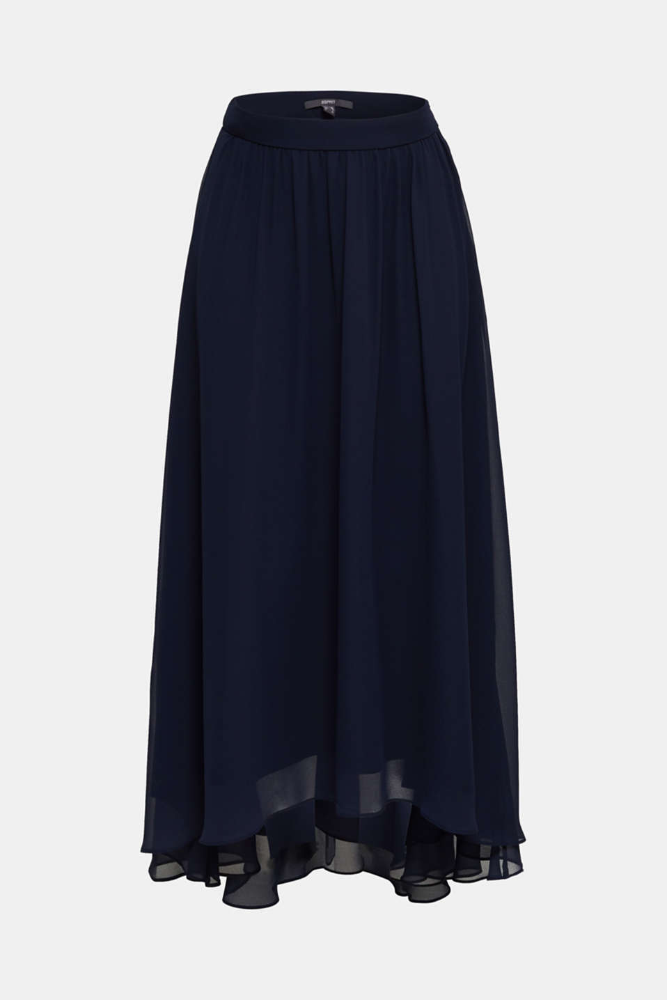 Chiffon maxi skirt, NAVY, detail image number 1