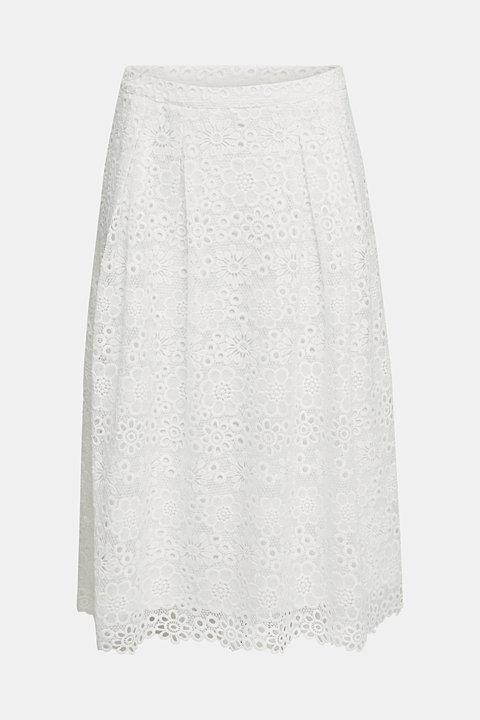Lace midi skirt in A-line design