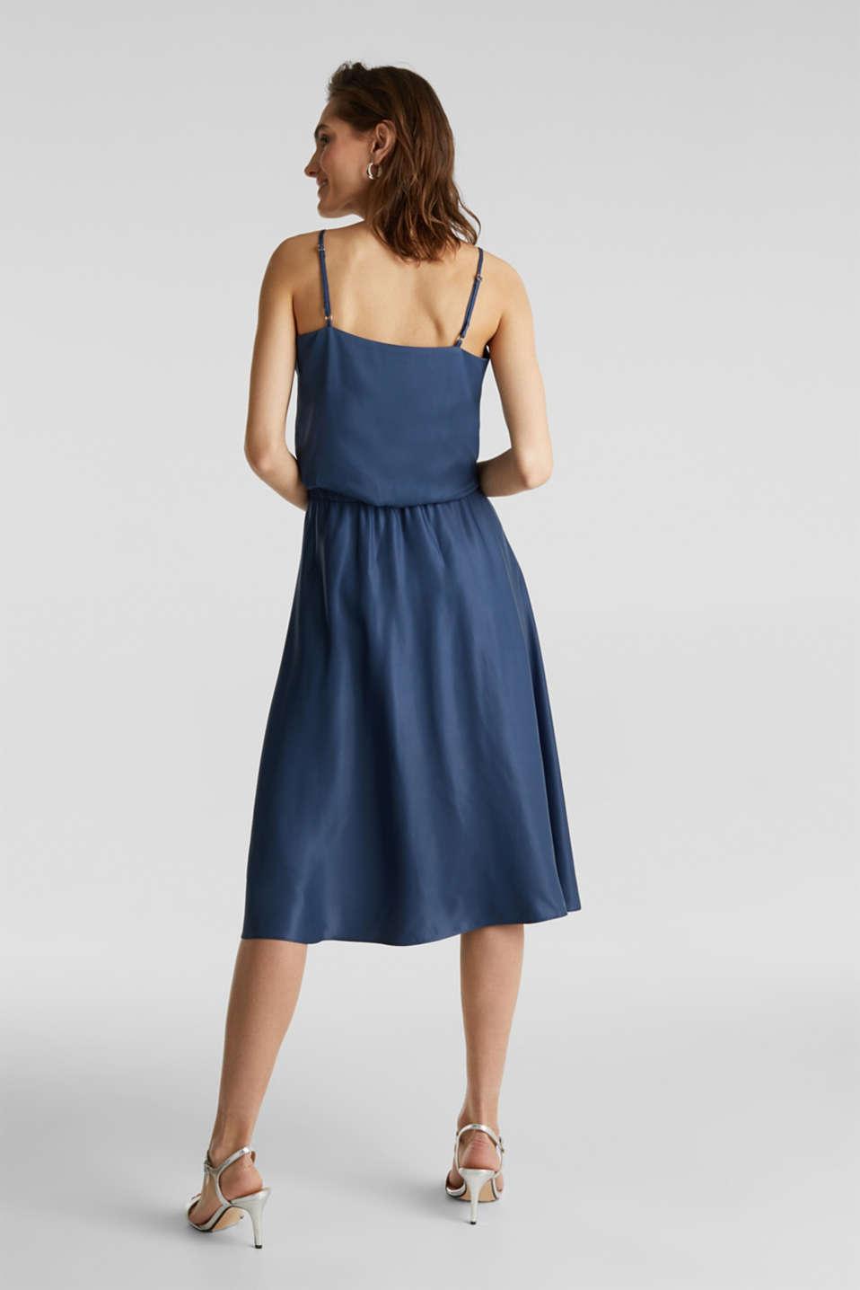Flared satin skirt, PETROL BLUE 2, detail image number 2